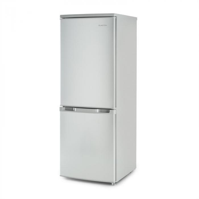 Bigpack Kühl-Gefrier-Kombination Kühlschrank 160 Liter A++ silber