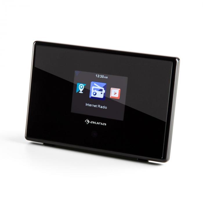 """IAdapt 240 internetradio-adapteri WLAN 2,4"""" TFT-värinäyttö linjaulostulo musta"""