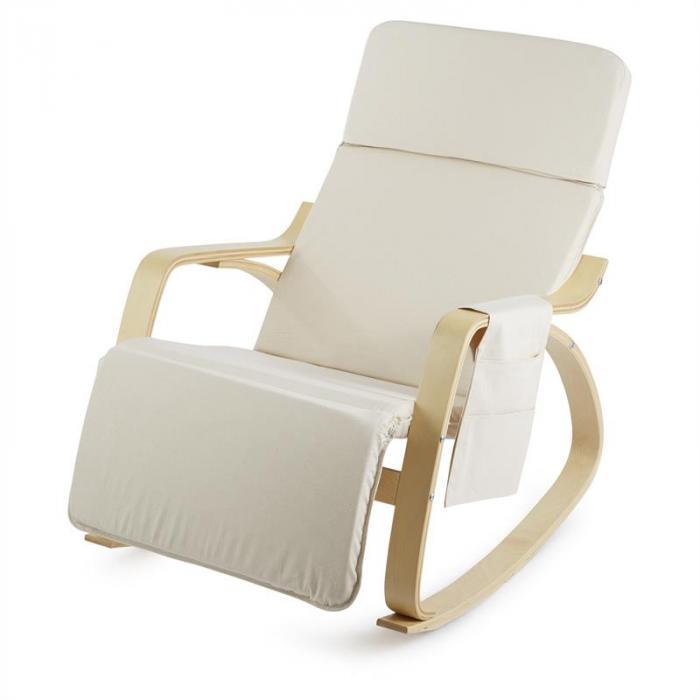 Beutlin nojatuoli kevyesti keinuva 68 x 90 x 97 cm (leveys x korkeus x syvyys) koivuvaneri beige