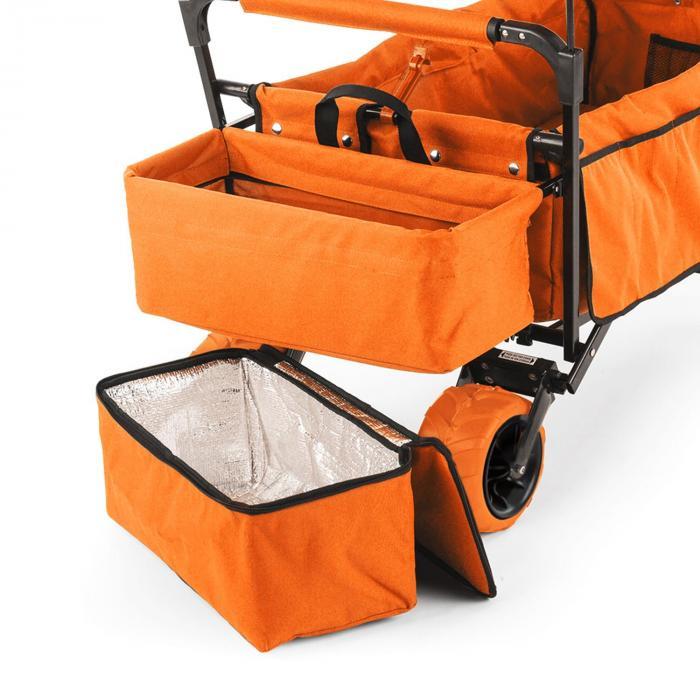 The Orange Supreme Bollerwagen Handwagen faltbar 68kg Sonnendach