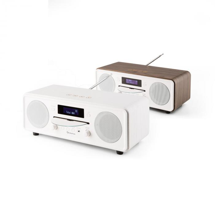 Melodia CD DAB+/FM Radio de mesa Reproductor de CD Bluetooth Alarma Repetición blanco