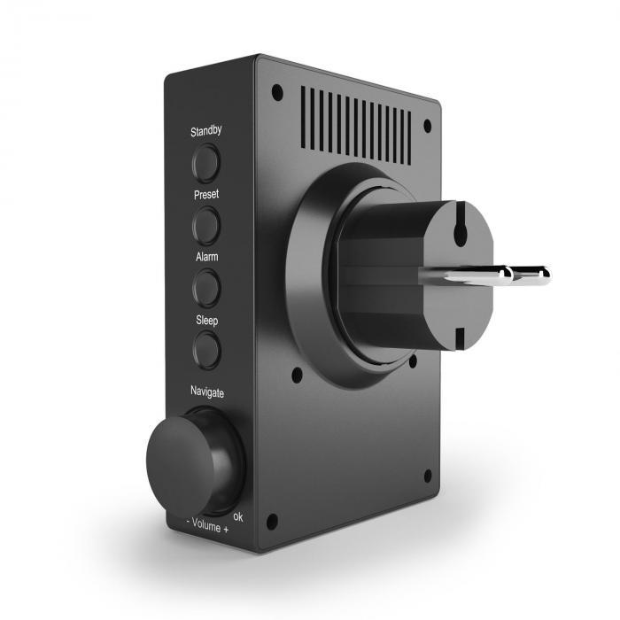"""Digi Plug Radio por Internet con enchufe 2,4"""" TFT Control a través de aplic"""