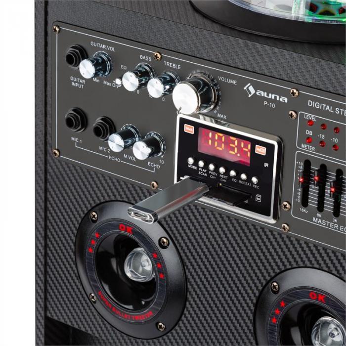 DisGo Box 100 Mobile DJ Speaker with Disco Light 100W RMS Bluetooth USB