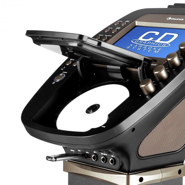 Karabig Karaoke Machine Bluetooth Led 7 Quot Tft Cd Usb Built