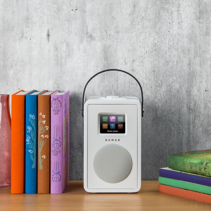 Mini Two Radio Internet Di Design WiFi DLNA Bluetooth DAB/DAB+ FM AUX Bianco