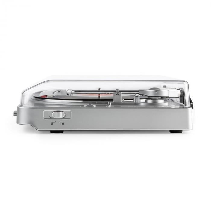 TT-30 BT Giradischi Trasmettitore Bluetooth Adattatore RCA Line-Out-USB Argento