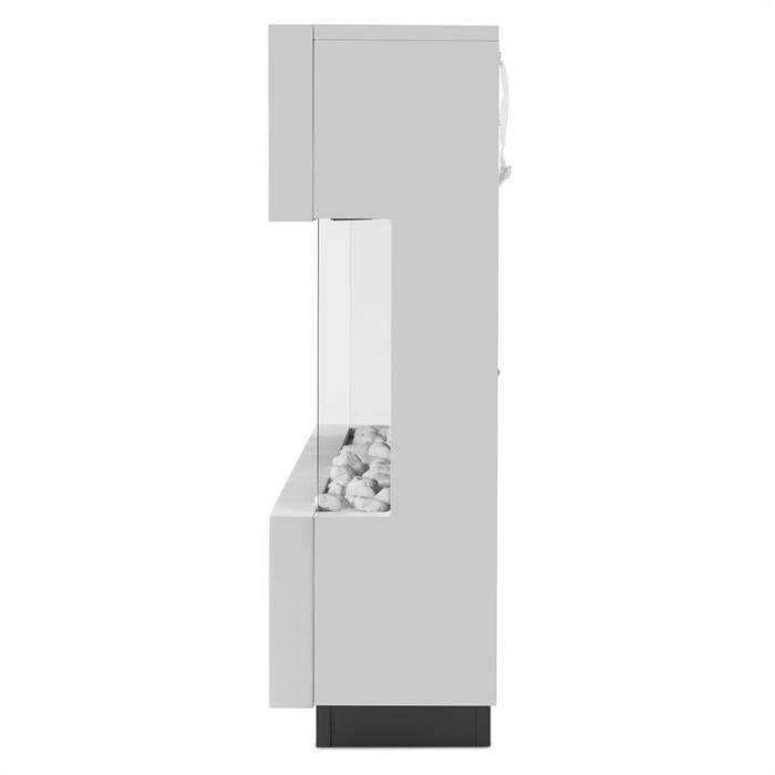 Studio-1 Camino Elettrico Con Effetto Fiamma A LED 750/1500 W 40m² Bianco