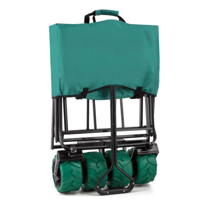 The Green käsikärry taitettava 70kg 90l leveät pyörät 10cm vihreä