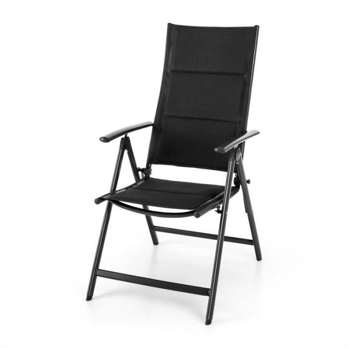 Stylo Royal Black Sedia Da Giardino Sedia Richiudibile Alluminio Nera