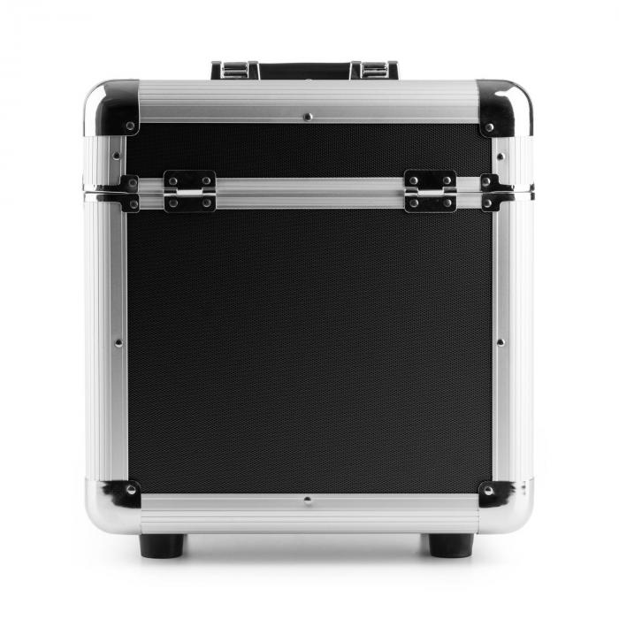 """RC80 12"""" alumiininen levylaatikko vinyylilevylaatikko 80 LP-levylle musta"""