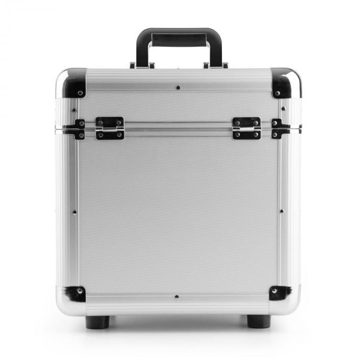 """RC100 12"""" Aluminium Valigia per vinili Vynil-Case 100 LP argento"""