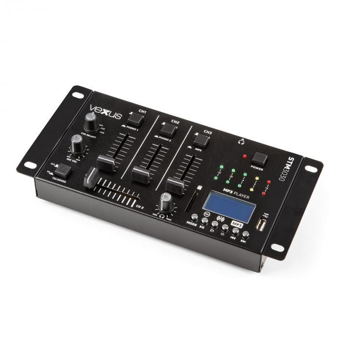 STM3030 4-kanavainen miksauspöytä bluetooth USB SD MP3 LED