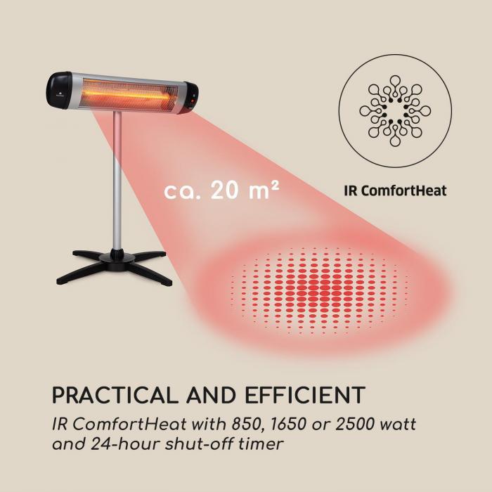 Rising Sun infrapunalämmitin 850 / 1650 / 2500 W alumiini