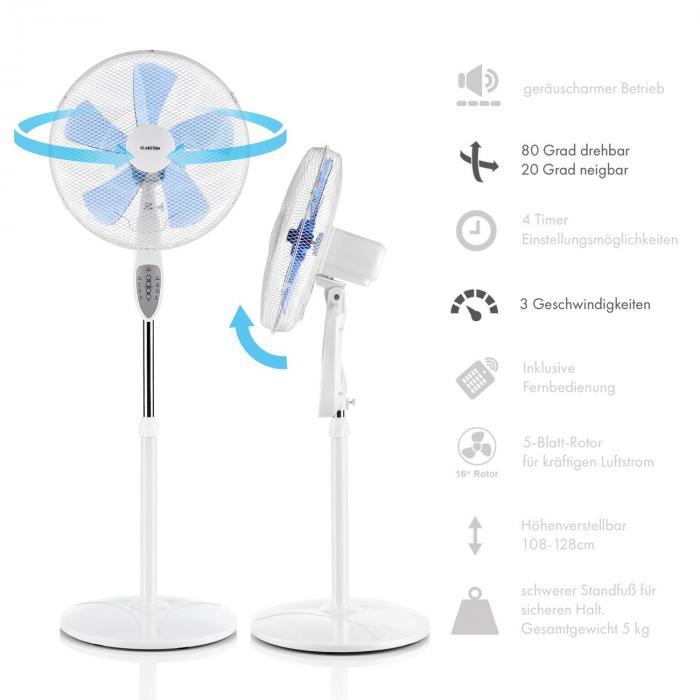 Summerjam Set 2 Ventilatori Verticali 50W 3 Velocità Bianco