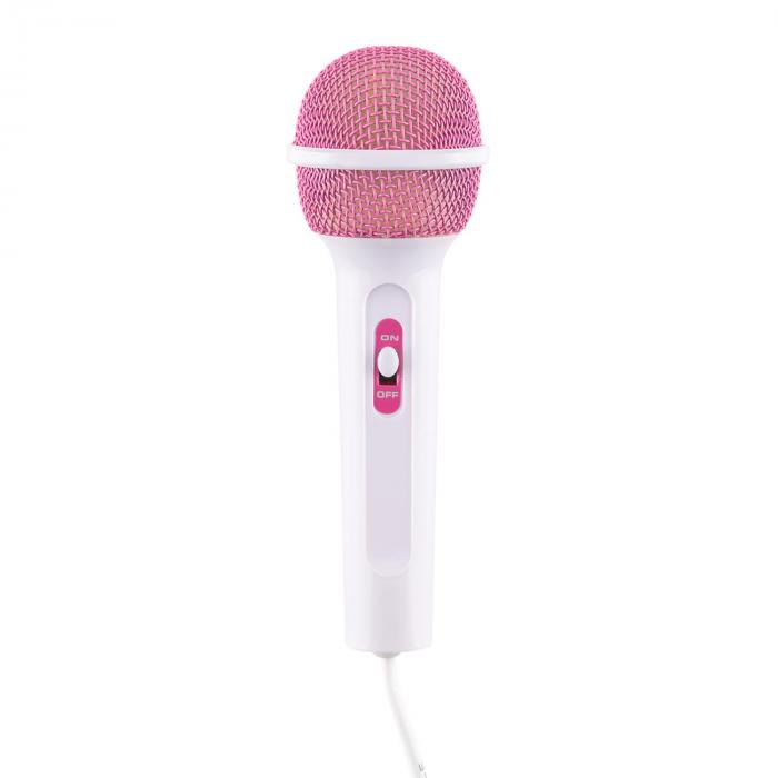 Rockpocket-A PK Impianto Karaoke Per Bambini CD AUX 2 Microfoni Rosa