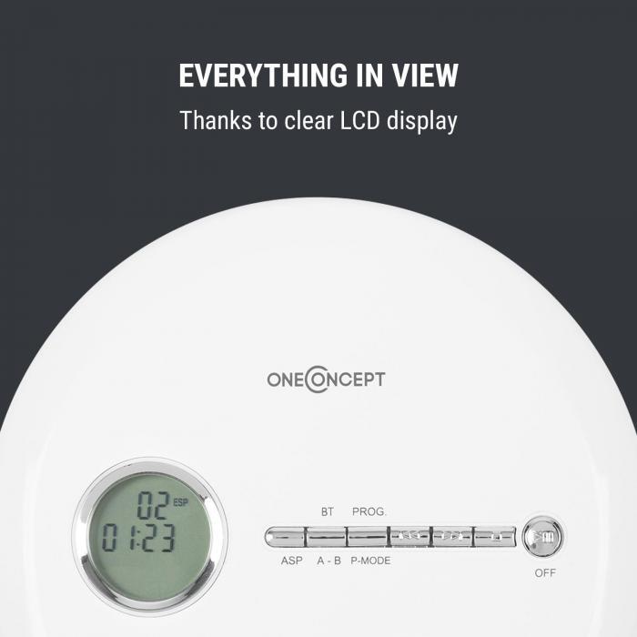 CDC 100MP3 Discman Disc Player LCD ASP Bass Amplification 2x1.5V White