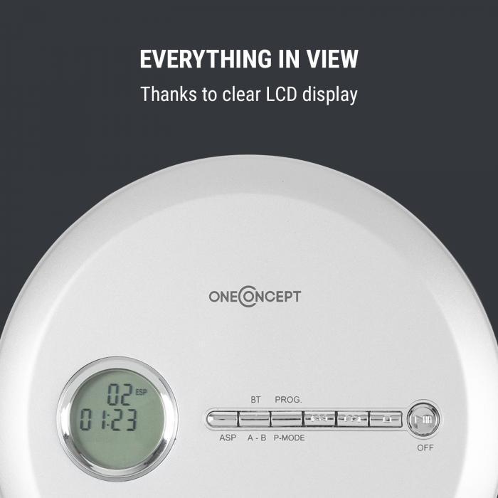 CDC 100 MP3 Discman CD-Player CD-R/-RW/-MP3 tragbar Antishock ESP Micro-USB