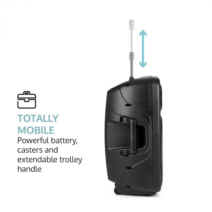 "Streetstar 12 kit sono mobile 12"" support d'enceintes 2x supports de micros"