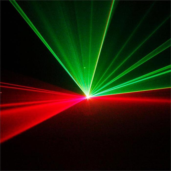 Oberon II Show-Laser RGY 230mW 9-DMX Master/Slave Fernbedienung