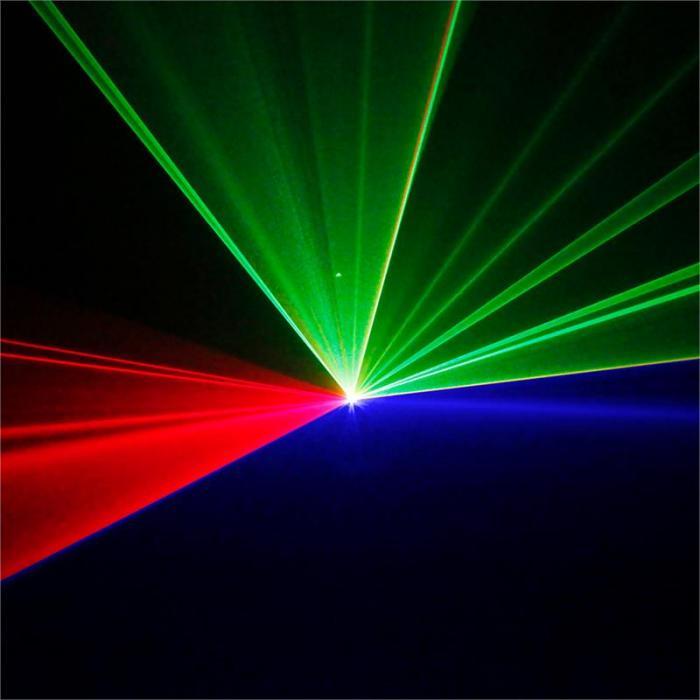 Ariel Show-Laser 350W RGB 9-DMX Master/Slave Telecomando IR