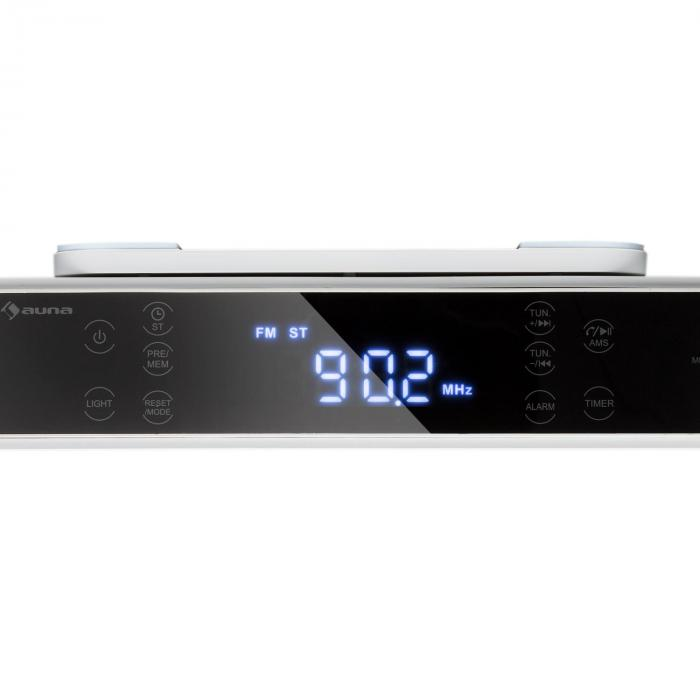 KR-130 Bluetooth köksradio hands free-funktion FM-tuner LED-belysning vit