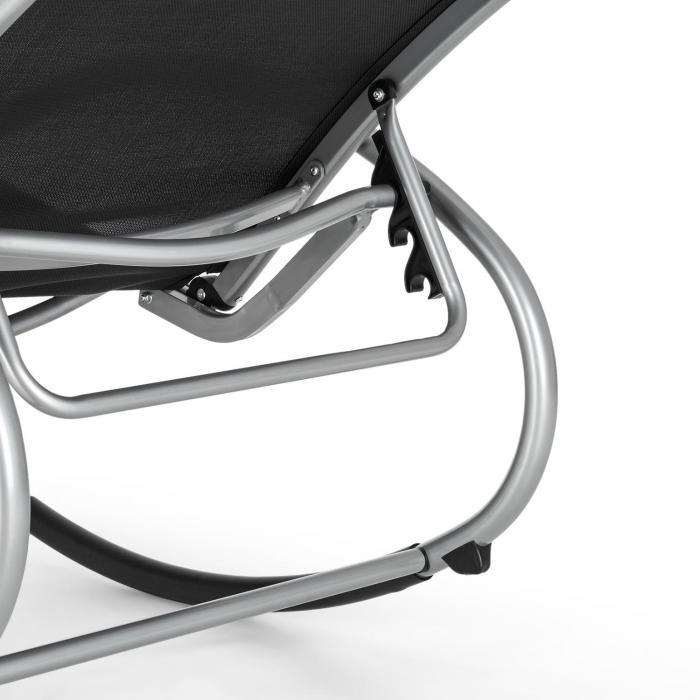 Santorini keinutuoli lepotuoli alumiinia polyesteria musta