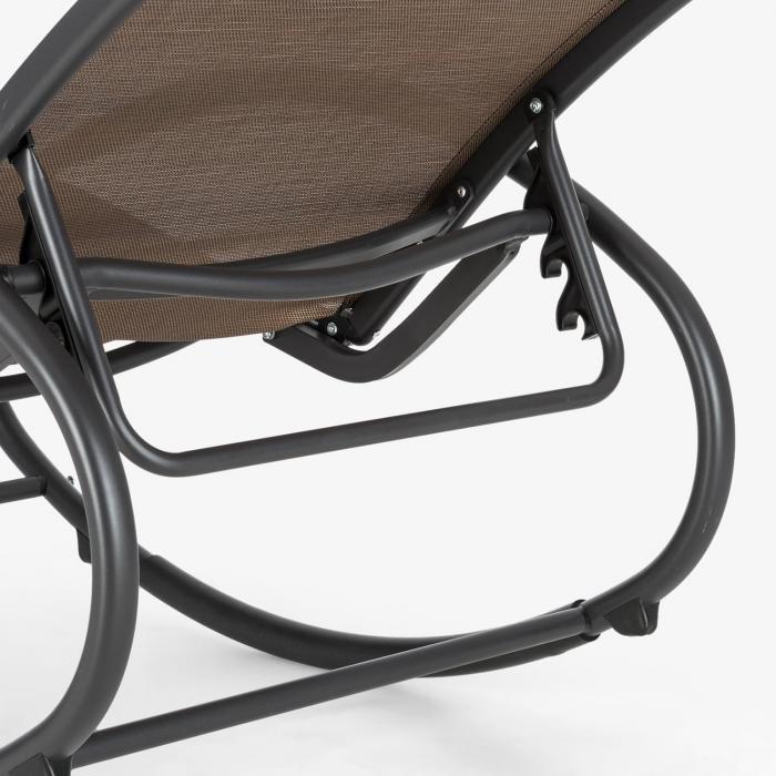 Santorini keinutuoli lepotuoli alumiinia polyesteria ruskea-musta