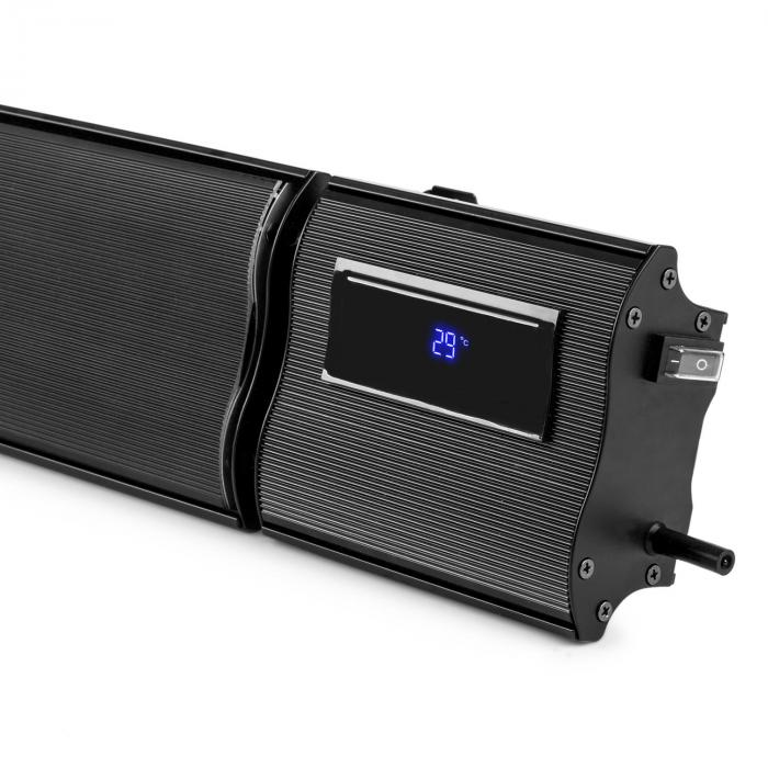 CosmicBeam Plus infrapunalämpölamppu 2400W IP24 kaukosäädin musta