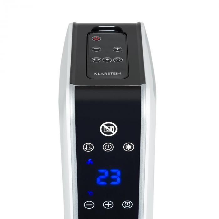 Hightower Heat keraaminen pylväslämpöpuhallin 2200 W termostaatti 49 °C valkoinen