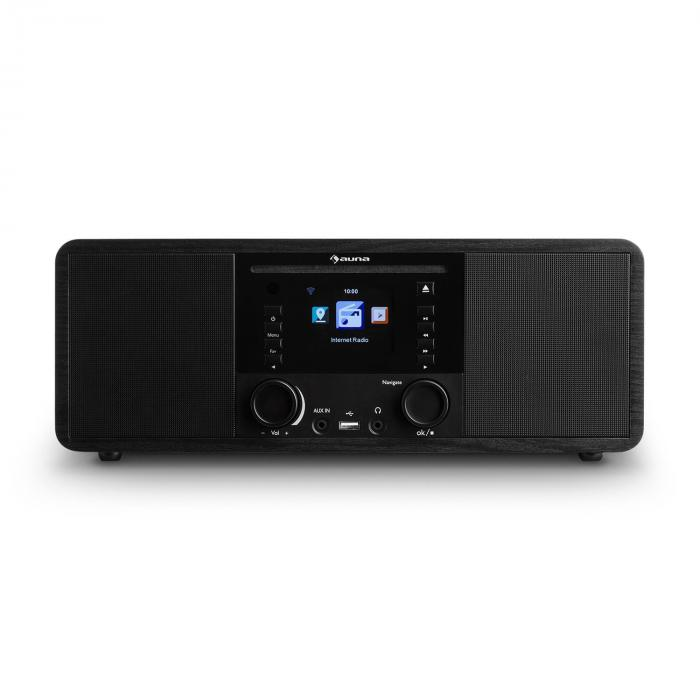 IR-190 InternetRadio CD-Player WiFi UPnP USB Remote ControlBlack