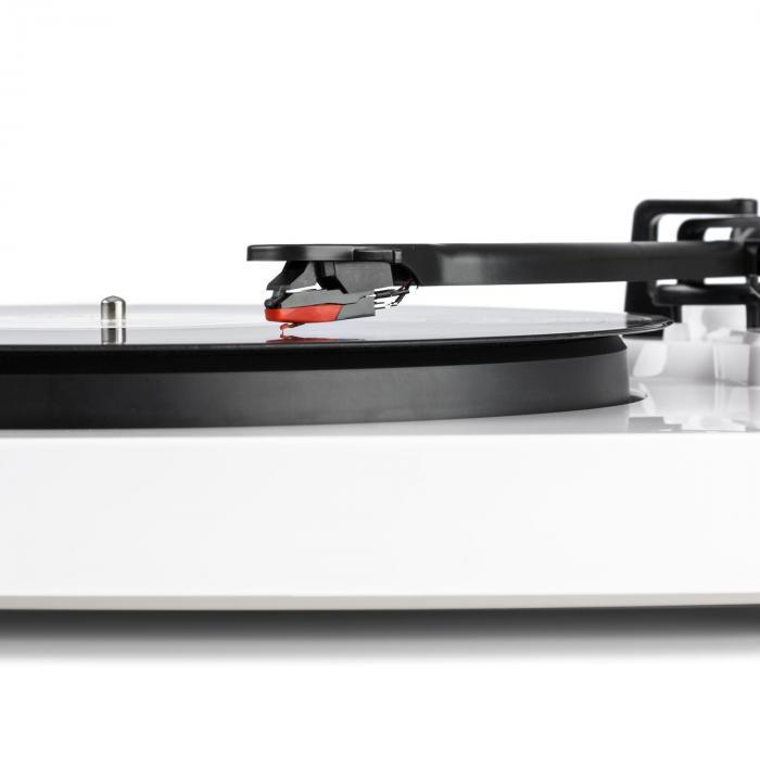 """TT-Play levysoitin 2 stereokaiutinta (3""""/10 W) bluetooth 33 1/3 & 45 rpm valkoinen"""