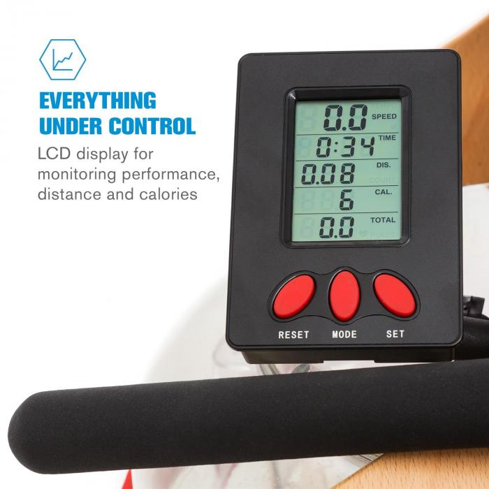 Stoksman soutulaite 120 cm säädettävä LCD-näyttö pyökki vaalea
