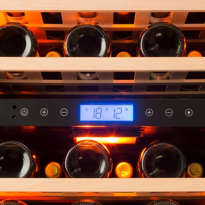 Vinovilla Duo 43 Cantinetta Vino a Due Zone129 l 43 Bott. 3 Colori Porta di Vetro