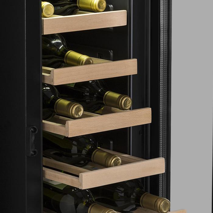 VinovillaSmart viinijääkaappi 50l / 20 pulloa lasiovi teräs