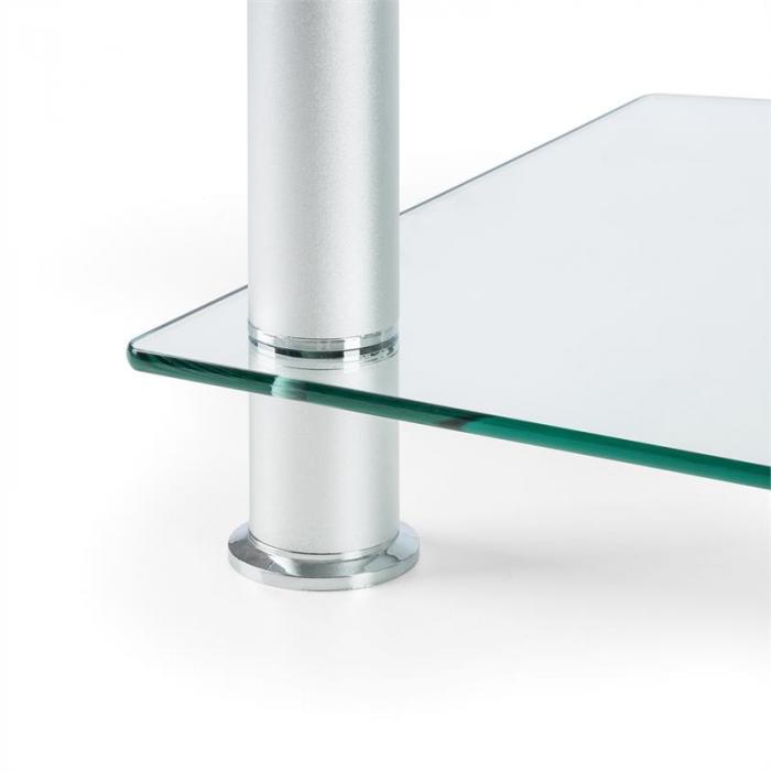 favs19 tv halterung fernsehtisch 37 50 zoll 2 glasetagen silber online kaufen. Black Bedroom Furniture Sets. Home Design Ideas