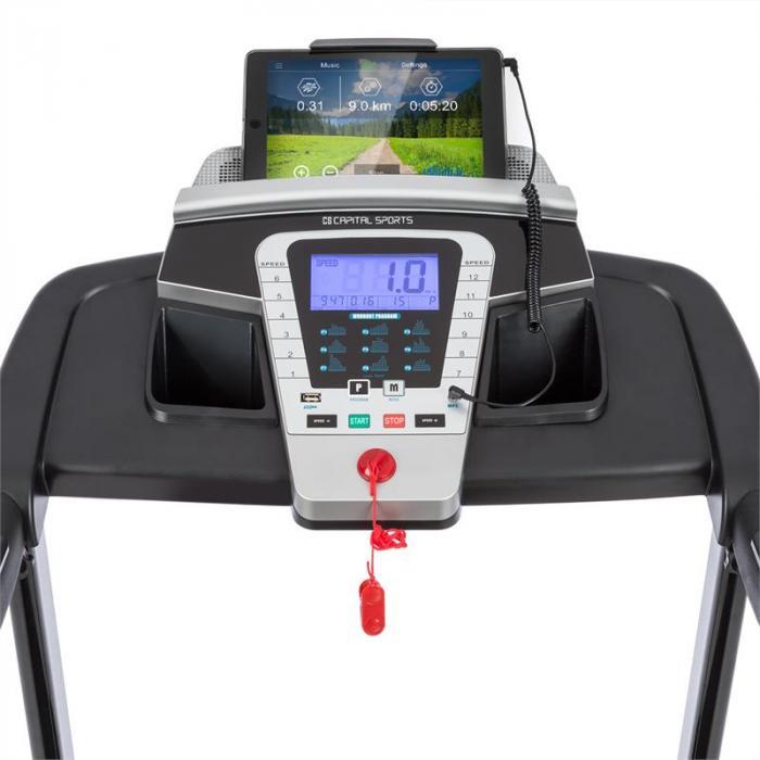 Pacemaker F80 Bieżnia wyświetlacz LCD składana 1–16 km/h USB