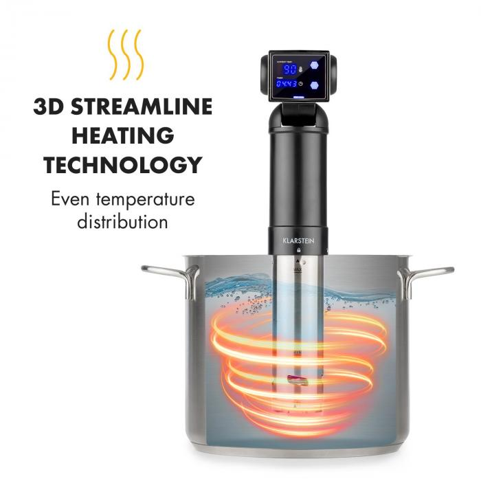 Quickstick Pro Sous  Vide Pump 3D Streamline  Heating 0-90 °C Black