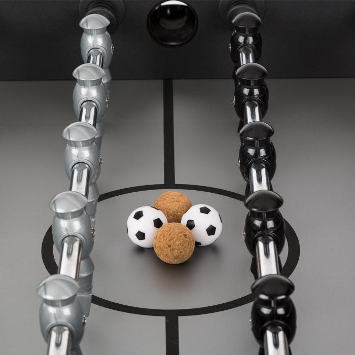 Anfield Table Football Table Full Metal Rods Ball Bearings Tournament Size Black