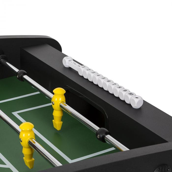 San Siro Tavolo Da Calcio Balilla Pieghevole Dimensioni da Campionato Aste Vuote Cuscinetto Nero