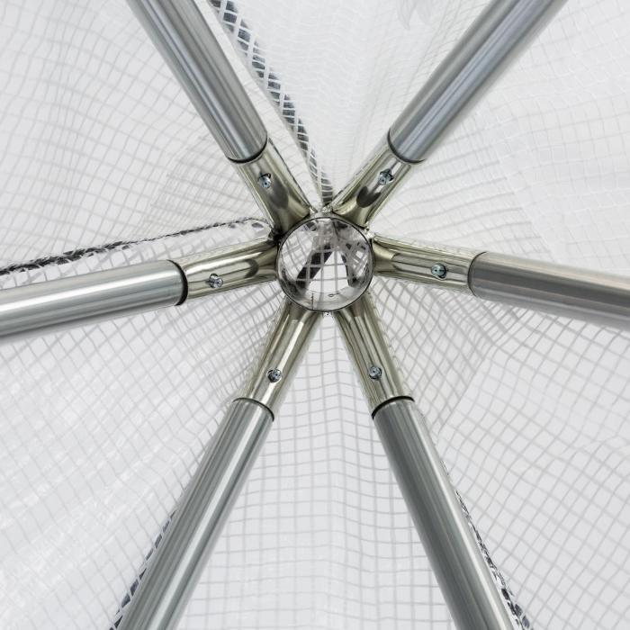 Greenshelter S Serra Svernamento 130x150cm Tubi di Acciaio Ø25mm PVC