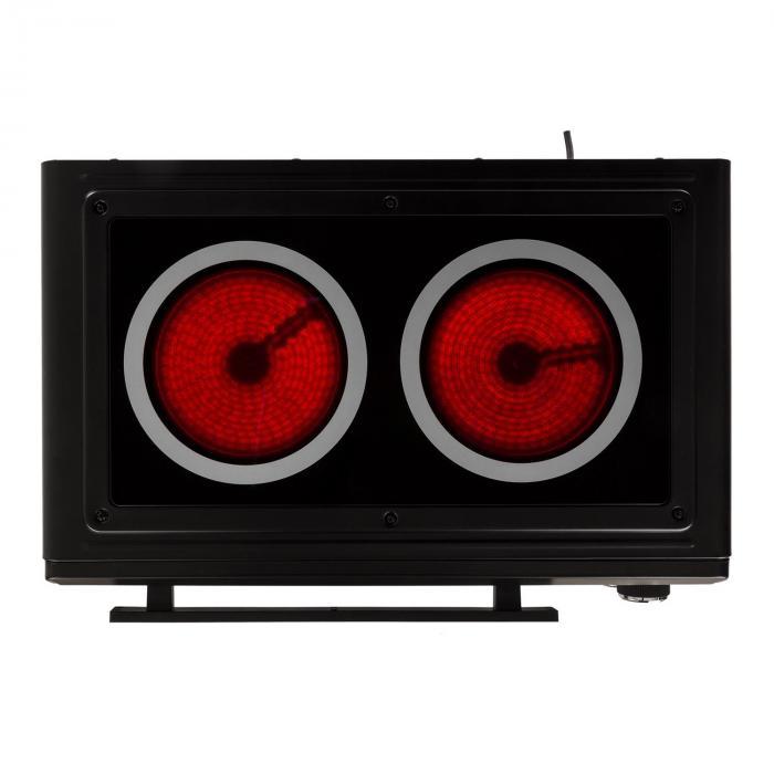 Masterchef minioven 60min timer 38 liter infrarood kookplaat zwart