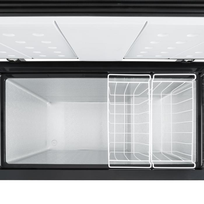 iceblokk 200 gefriertruhe a 200 liter h ngek rbe bodenrollen schwarz online kaufen. Black Bedroom Furniture Sets. Home Design Ideas