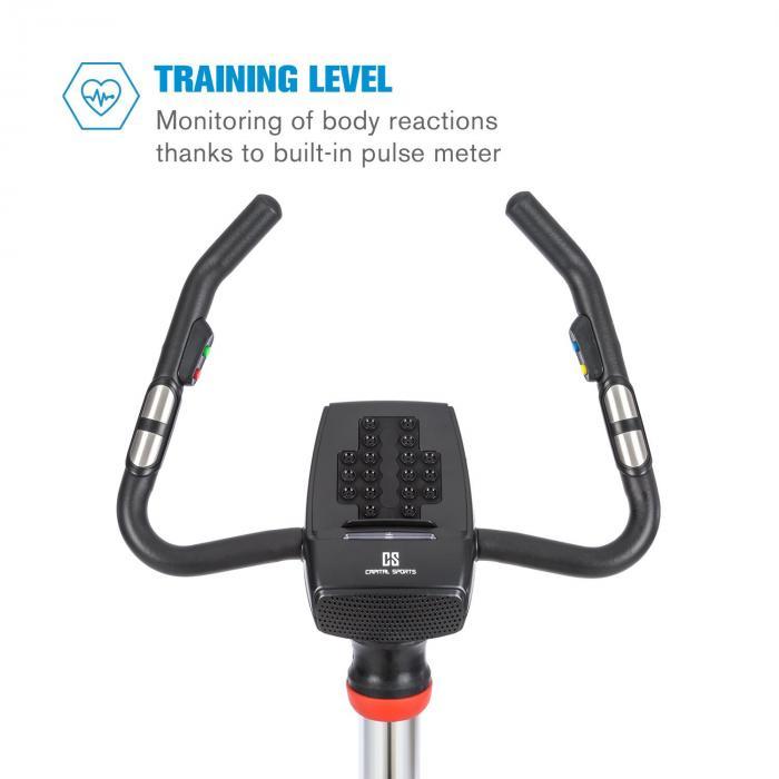 Arcadion kuntoyörä pulssimittari Bluetooth ohjaustankokiinnitys musta