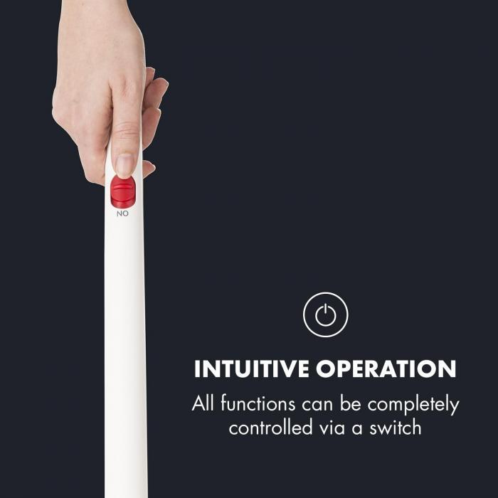 Primo Odkurzacz akumulator  filtr nadający się do mycia 120W kompaktowy biały/czerwony