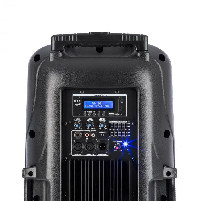"SPX-PA9210 äänijärjestelmä 2 x 10"" USB, SD/MMC bluetooth akku 4-6 h"