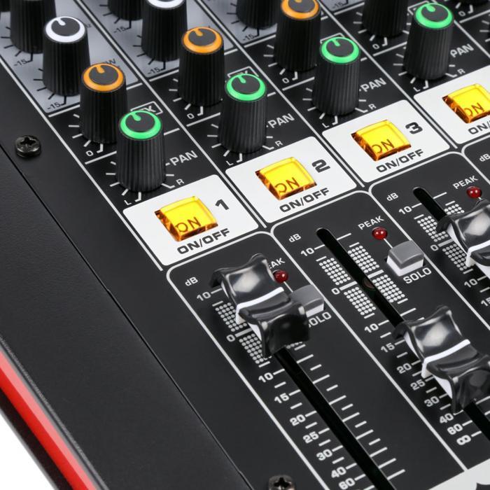 PDM-M604A 6 Microphone Inputs 24-Bit Multi-FX Processor USB Player