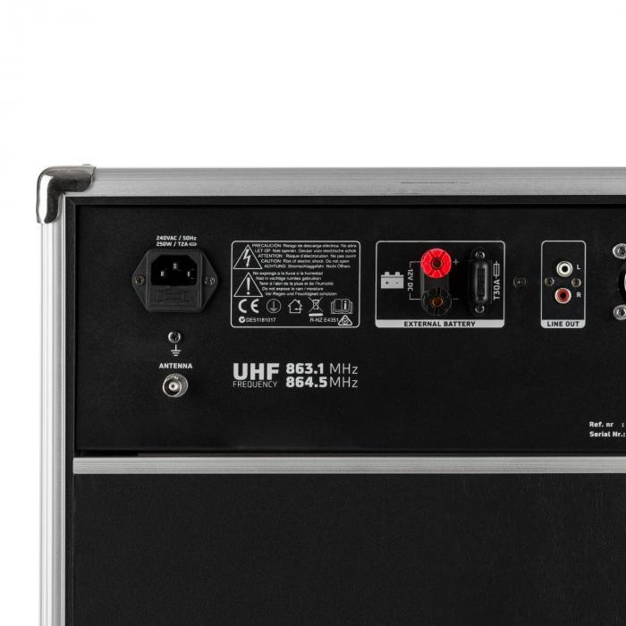 ST180MKII mobiele PA installatie 450W USB, SD/MMC voor MP3 CD speler