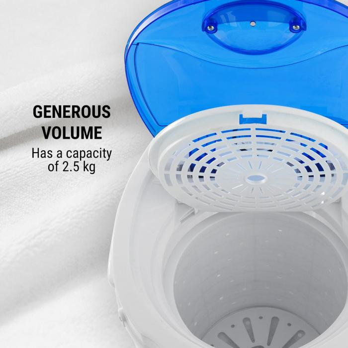 Top Spin Compact centrifug 45W 1,5kg timer vit/blå