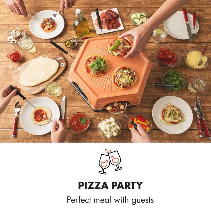 Capricciosa pizzaoven 1500W terracotta afdekking warmhoudfunctie