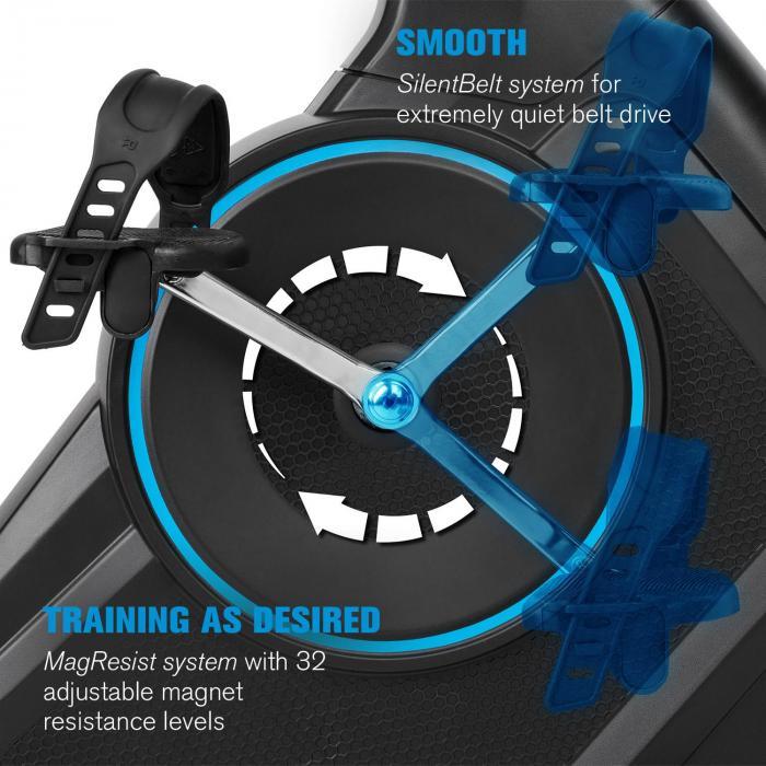 Capital Sports Evo Deluxe Cardiobike Bluetooth App 20kg